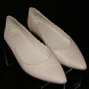 Cole Haan Froth pink leather scalloped flats 6.5B